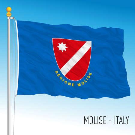 Molise, flag of the region, Italian Republic, vector illustration