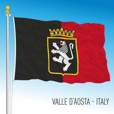 Valle d'Aosta, flag of the region, Italian Republic, vector illustration Vettoriali