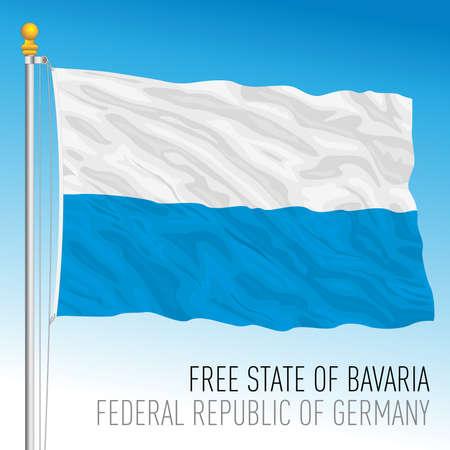 Bavaria lander flag, federal state of Germany, europe, vector illustration