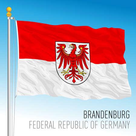 Brandenburg lander flag, federal state of Germany, europe, vector illustration