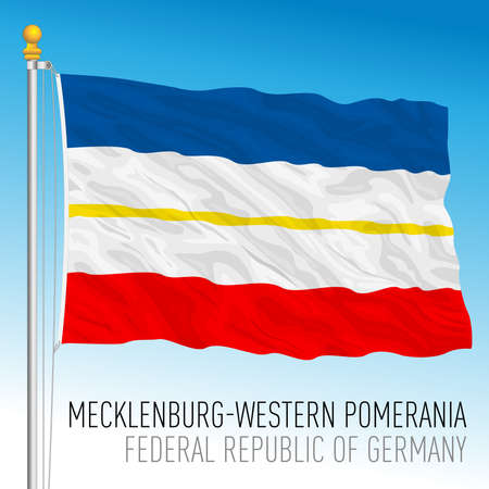 Macklenburg Western Pomerania lander flag, federal state of Germany, europe, vector illustration