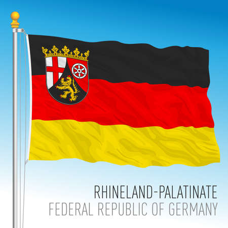 Rhineland Palatinate lander flag, federal state of Germany, europe, vector illustration Vettoriali