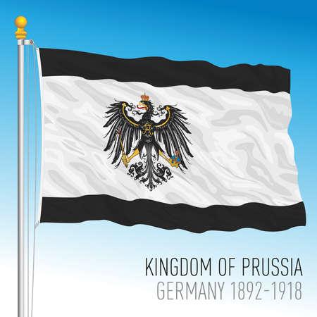 Kingdom of Prussia historical flag, 1892 - 1918, Germany, europe, vector illustration