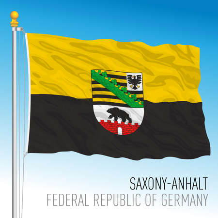 Saxony Anhalt lander flag, federal state of Germany, europe, vector illustration