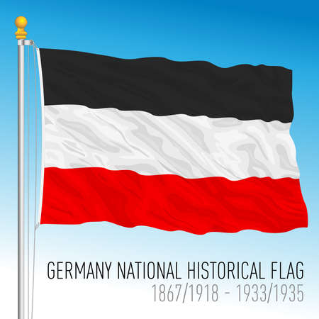 Germany national historical flag, Europe, vector illustration Vettoriali