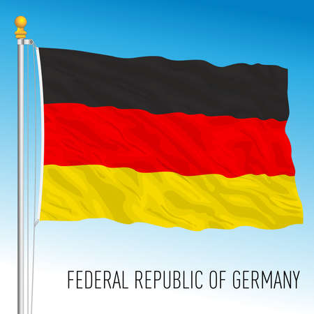 Federal Republic of Germany official national flag, European Union, vector illustration