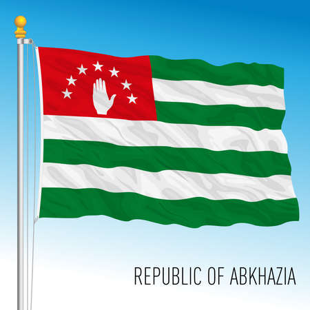 Republic of Abkhazia official national flag, asiatic country, vector illustration Vettoriali