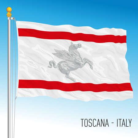 Tuscany regional flag, Italy, 3D vector illustration Vettoriali