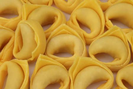 Handmade tortellini ready for cooking, traditional cuisine, italy