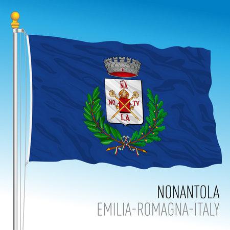 Nonantola (Modena), Italy, flag of the municipality, vector illustration