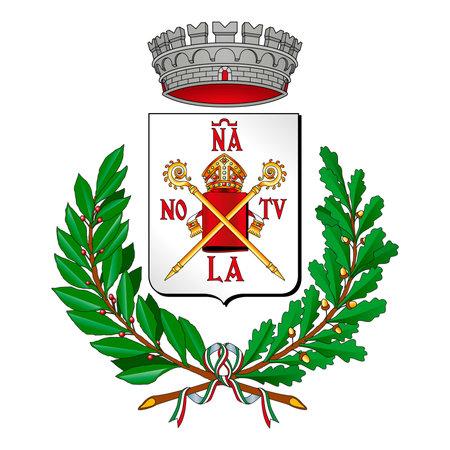 City of Nonantola (Modena), Italy, coat of arms, vector illustration