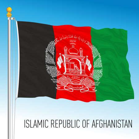 Afghanistan official national flag, vector illustration Vettoriali