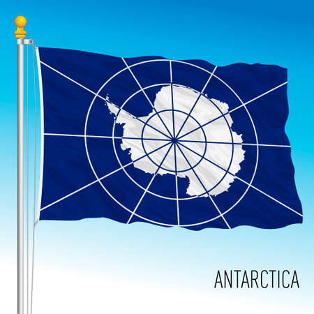 Antarctica continental flag, vector illustration