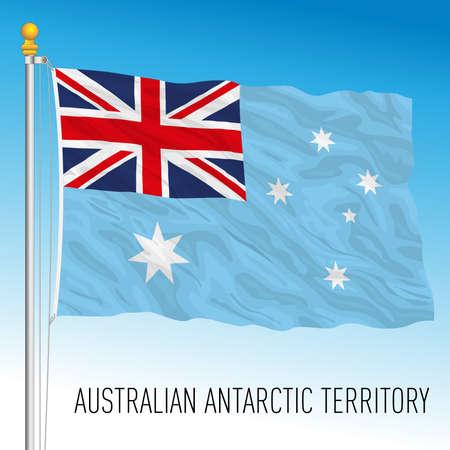 Australian Antarctic Territory flag, antarctic territory, Australia, vector illustration