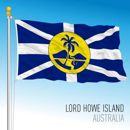 Lord Howe Island flag, australian territory, Australia, Oceanian country, vector illustration