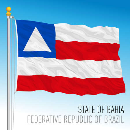 State of Bahia, official regional flag, Brazil, vector illustration 矢量图像