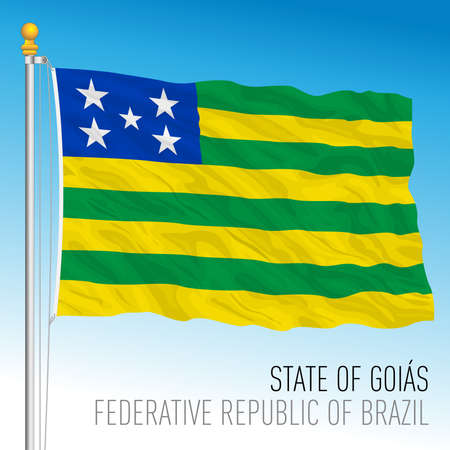 State of Goias, official regional flag, Brazil, vector illustration 矢量图像