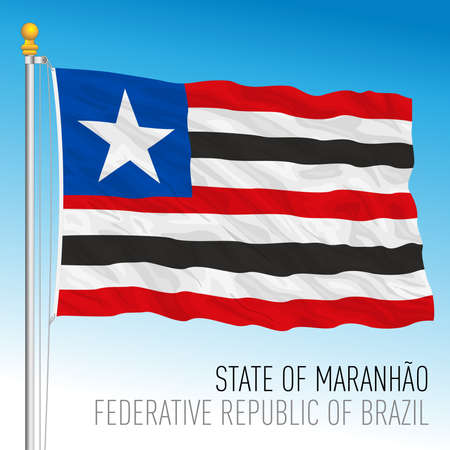 State of Maranhao, official regional flag, Brazil, vector illustration 矢量图像