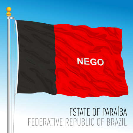 State of Paraiba, official regional flag, Brazil, vector illustration 矢量图像