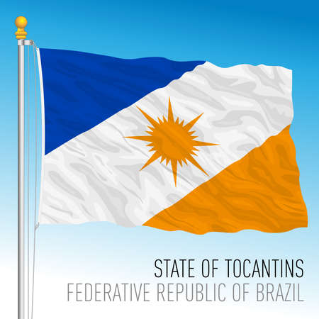 State of Tocantins, official regional flag, Brazil, vector illustration 矢量图像