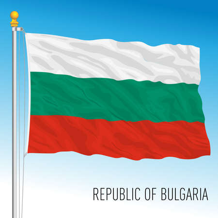 Bulgaria official national flag, European Union, vector illustration