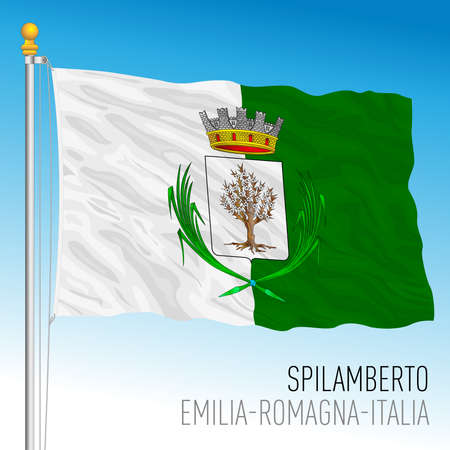 City of Spilamberto, Modena, Italy, flag of the municipality, vector illustration 矢量图像