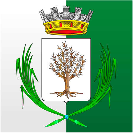 City of Spilamberto, Modena, Italy, coat of arms of the municipality, vector illustration