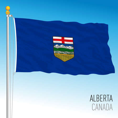 Alberta territorial and regional flag, Canada, north american country, vector illustration
