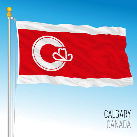 Calgary City flag, Canada, north america, vector illustration