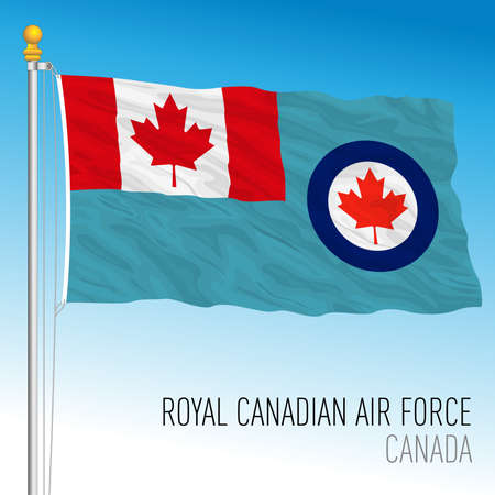 Royal Canadian Air Force flag, Canada, north america, vector illustration