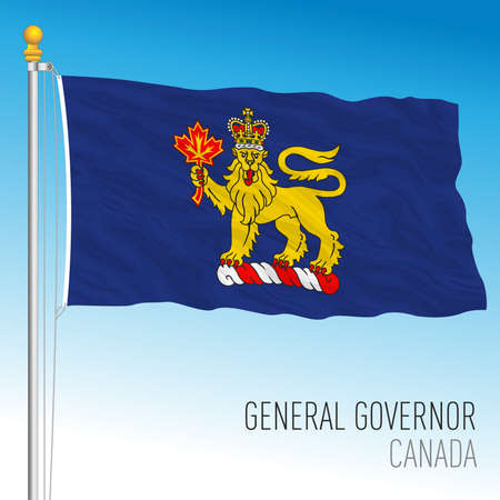 General Governor flag, Canada, north american country, vector illustration