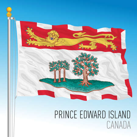 Prince Edward Island territorial and regional flag, Canada, north american country, vector illustration