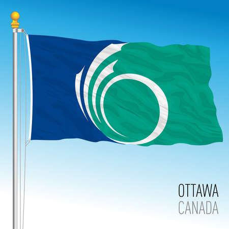 Ottawa City flag, Canada, north american country, vector illustration