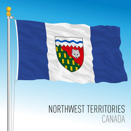 Northwest terrirories regional flag, Canada, north american country, vector illustration