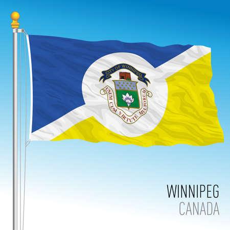 City of Winnipeg flag, Canada, north american country, vector illustration Vettoriali