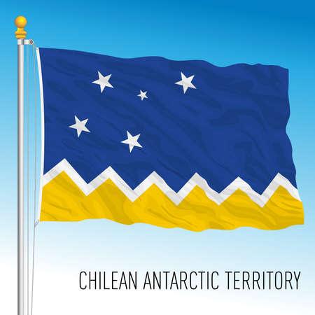 Chilean Antarctic territory flag, Chile, vector illustration