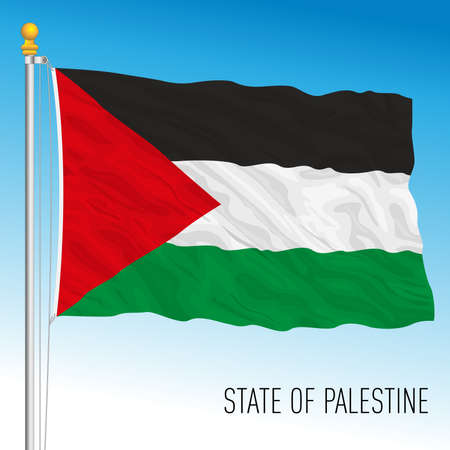 State of Palestine official national flag, middle east, vector illustration Archivio Fotografico - 168734239