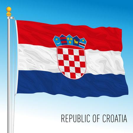 Croatia official national flag, European Union, vector illustration Archivio Fotografico - 168968352