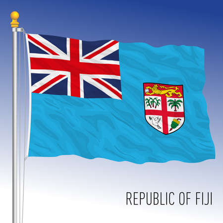 Fiji official national flag, asiatic country, vector illustration Archivio Fotografico - 169116585