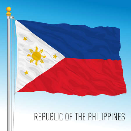 Philippines official national flag, asiatic country, vector illustration Archivio Fotografico - 169116586
