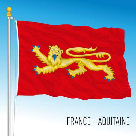 Aquitaine regional flag, France, European Union, vector illustration Archivio Fotografico - 169228323