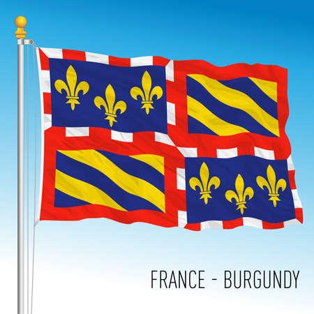Burgundy regional flag, France, European Union, vector illustration
