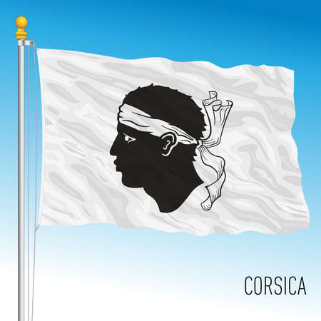 Corsica regional flag, France, European Union, vector illustration Archivio Fotografico - 169370444