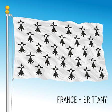 Brittany regional flag, France, European Union, vector illustration