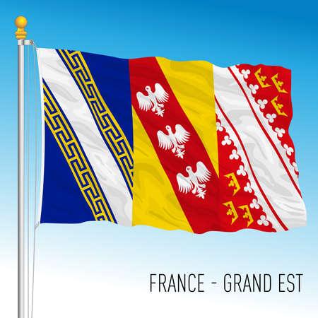 Grand Est regional flag, France, European Union, vector illustration