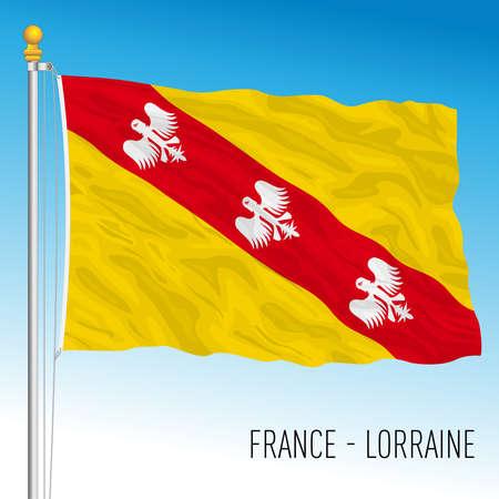 Lorraine regional flag, France, European Union, vector illustration