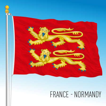 Normandy regional flag, France, European Union, vector illustration