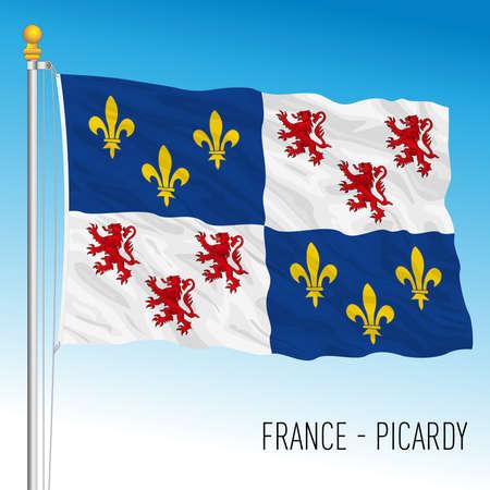 Picardy regional flag, France, European Union, vector illustration