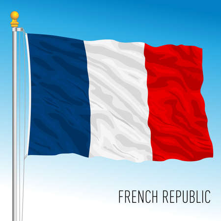 France official national flag, French Republic, European Union, vector illustration Vettoriali