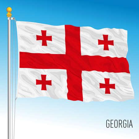 Georgia official national flag, european country, vector illustration Vettoriali